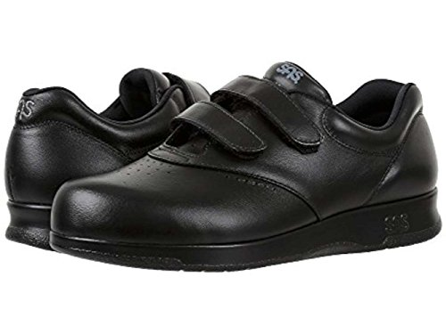 SAS Womens Me Too Leather Low Top Walking Shoes, Black, Size 8.5