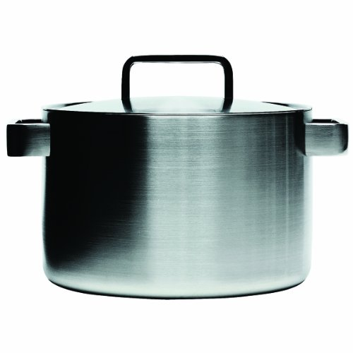 Iitala Dahlstrom Tools Casserole W/ Lid (8 Qt), Brushed Stainless Steel
