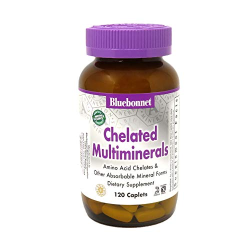 Bluebonnet Nutrition High Potency Chelated Multiminerals, Albion Chelated Minerals, Soy-Free, Gluten-Free, Non-GMO…