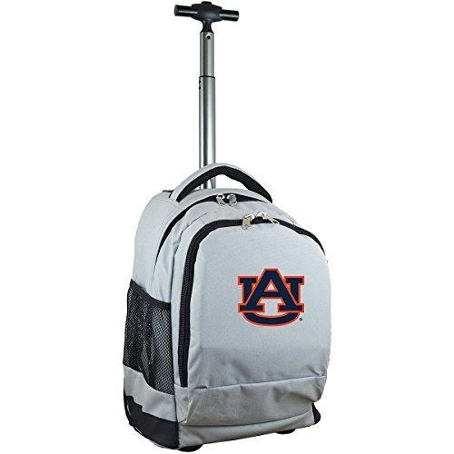 Denco NCAA Auburn Tigers Expedition Wheeled Backpack, 19-inches, Grey - Backpack Auburn Tigers