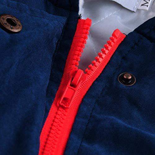 Invierno Cómodo Sólidos Delanteros Chaqueta Mujer Modernas Casual Cremallera Outwear Con Bolsillos Moda Outerwear Colores Parkas Capucha Blau Cordón O6Otwq8