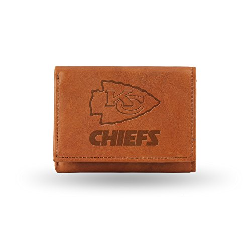 City Gift (NFL Kansas City Chiefs Embossed Genuine Cowhide Leather Trifold Leather Wallet)