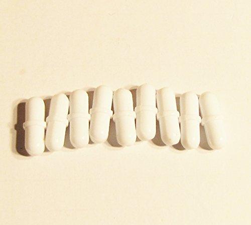 Magnetic Stir Bar Set, Spin Bar, Stirrer, with Pivot Ring, Ptfe Coated, Diameter 8mm, Length 25mm (1''). Pack of 10