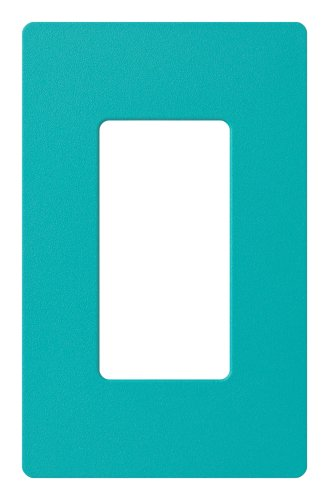 Lutron SC-1-TQ Claro Single-gang Wallplate Turquoise - Turquoise Wall Tile