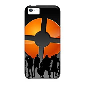 Hot UIAIUoP8444iiSeV Case Cover Protector For Iphone 5c- Silhouette Team Fortress 2