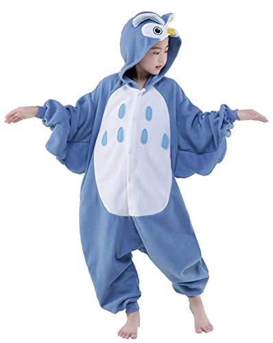 (AGoGo Women's Sleepwear Halloween Unisex Children Kids Party Children Cosplay Pyjamas Christmas Costume (115#,Blue)