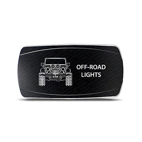 CH4x4 Rocker Switch Jeep Wrangler JK Off-Road Lights Symbol – Horizontal on