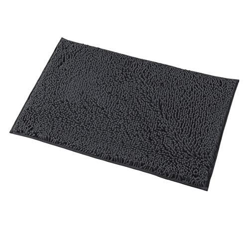 - MAYSHINE Bath mats for Bathroom Rugs Soft, Absorbent, Shaggy Microfiber,Machine-Washable, Perfect for Door Mat (20X32 inch Dark Gray)