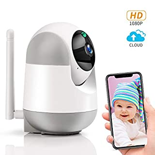 BOTIPC 1080P Home Indoor Security Camera for Baby/Pet/Dog, AI Motion Tracking, Night Vision, Two-Way Audio, Pan/Tilt, Cloud & MicroSD, HD Video Baby Monitor WiFi Camera with iOS Android App