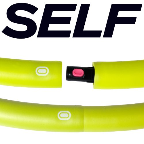 SELF Weighted Fitness Hoop, 2-Pound, Green