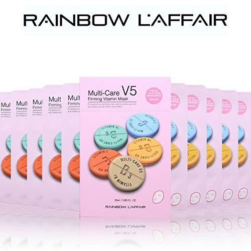 Laffair Hyaluronic Acid Facial Face Mask Sheet Korean Skin Care 10 Masks (Firming)