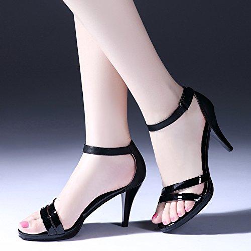 D'Été Du Un SHOESHAOGE Chaussures Boucle Sandales Haut L'Air Mot À La Avec Ceinture unie Plate Talon Couleur Côté De Bien Forme Étanche Code Chaussures Femme Petites xrEFnTq0Ef
