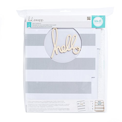 American Crafts 370606 10 Piece Heidi Swap Mixed Media Cinch Kits Memory File Album