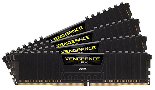 Corsair Vengeance LPX 32GB (4x8GB) DDR4 3200 C16 1.35V - PC memory CMK32GX4M4D3200C16 Black by Corsair