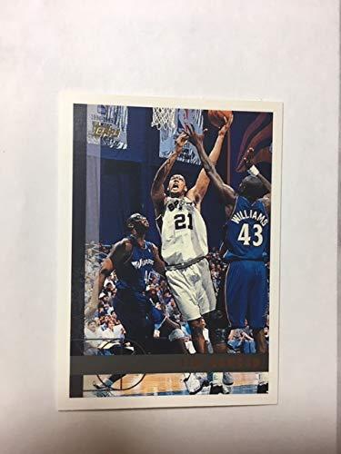 1997 Topps #115 Tim Duncan Rookie Card San Antonio Spurs