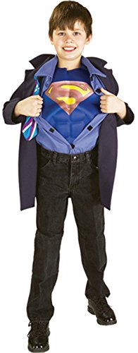 Kids Clark Kent Costume (Boys Clark Kent Superman Reverse Kids Child Fancy Dress Party Halloween Costume, S)