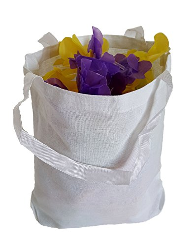 White Cotton Tote Bags, Party Goody Bags, To Go Bags. (12) by Dondor (Image #3)