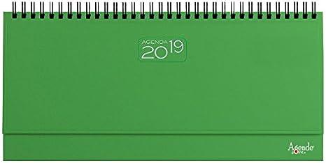 Agenda 2018 de mesa, planificador semanal, con espiral, de 13 x 30 ...
