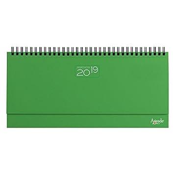 Agenda 2018 de mesa, planificador semanal, con espiral, de ...