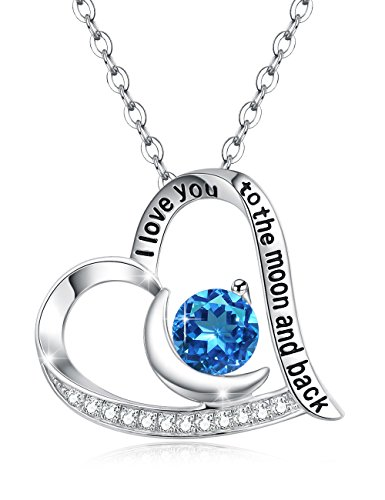 Elda&Co Christmas Gfit Natural Swiss Blue Topaz December Birthstone Necklace Sterling Silver Jewelry Birthday Gift for Her