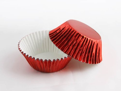 Professional US Standard-Sized Grease-Proof Foil Cupcake Liners (Red)