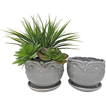 Amazon Com Pennington Ceramic Vintage Floral Pot Planter