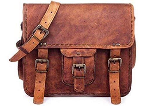 pranjals house Vintage Handmade Leather Laptop Crossover Messenger Bag