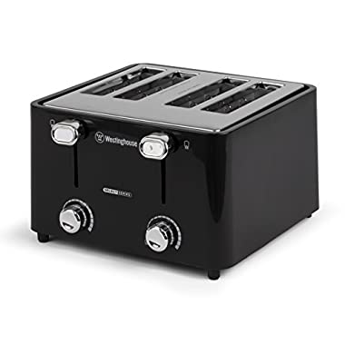 Westinghouse WT44BA Select Series 4 Slice Cool Touch Toaster, Extra Wide Slot, Black