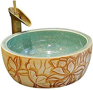 ラウンドヨーロッパの洗面台のシンクセラミックホテルアンチスプラッシュ洗面蛇口1セット
