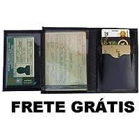 Carteira Masculina Couro Legítimo Porta Cartões Dinheiro R3