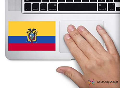 ExpressDecor Country flag Ecuador 4x2.5 inches funny stickers for construction hard hat pro union working men lunch box tool box symbol window motorcycle biker car - Made and shipped in USA