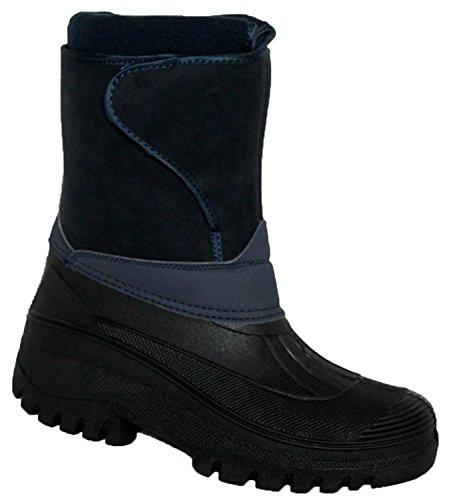 Botas de equitación para mujer, estables, impermeables azul marino