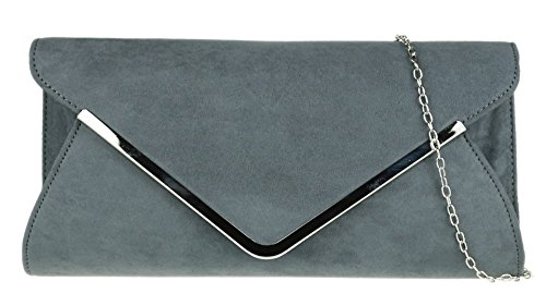 HandBags Girly Girly Bag HandBags Charcoal Envelope Envelope Clutch zxpngFqw