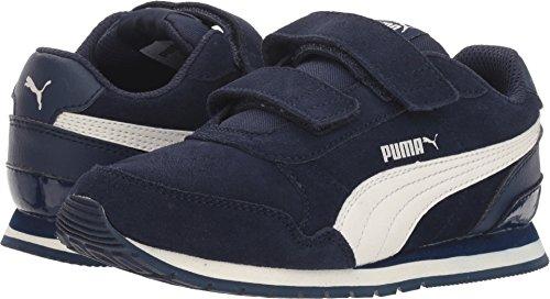 Price comparison product image PUMA Unisex ST Runner SD Velcro Kids Sneaker, Peacoat-Whisper White, 11.5 M US Little kid