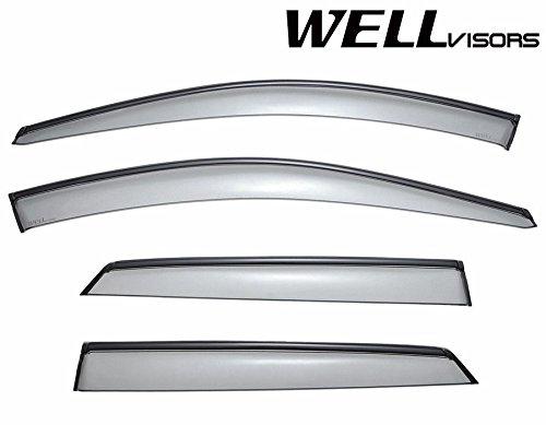 Mercedes Benz Visor (WellVisors Side Window Wind Deflector Visors - Mercedes Benz ML Class W164 ML320 ML350 ML450 ML500 ML550 2006 2007 2008 2009 2010 2011 with Black Trim)