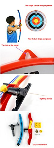 14f72f2022f Liberty Imports Sport Toy Archery Bow And Arrow Set for Kids With Suction  Cup Arrows And Target - 35881F   Youth Bow Sets   Sports   Outdoors - tibs