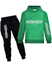 Kids Pullover Hoodie Jogging Pants Set for Boys and Girls Sport Tracksuit