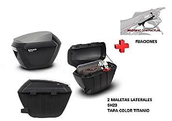 Kit Shad fijacion+ Maletas Laterales Tapa c. Titanio SH23 Honda X-ADV (2017): Amazon.es: Coche y moto