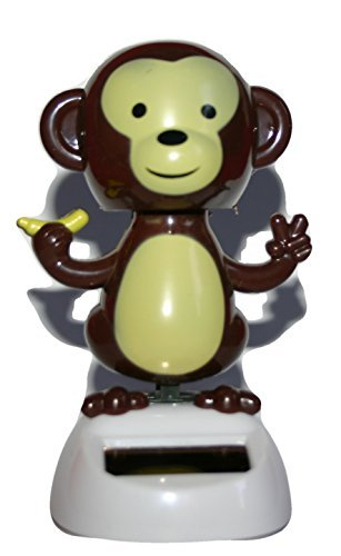 Cute Dancing Monkey Design Solar Pal Height 10cm Width 6.5cm Depth 6cm by Solar Powered Dancing Monkey Animatronic Decoration Figurine Model by Unknown