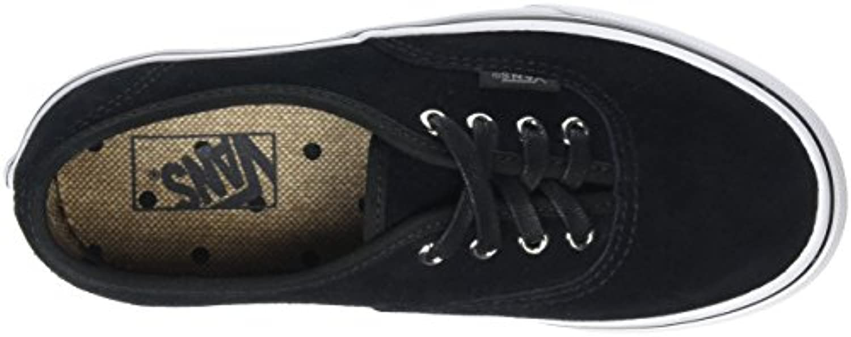Vans Unisex Kids' Authentic Low-Top Sneakers, Black (Suede Black/Tweed Dots), 1 UK