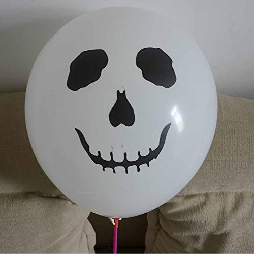 (Horror Halloween Mask - 10pcs 12inch Skull Latex Balloons Halloween Pirate Air Pirates Theme Birthday Party Decoration - Ship Halloween Dental Picture Accessories Poster Ball Salvador Mask)