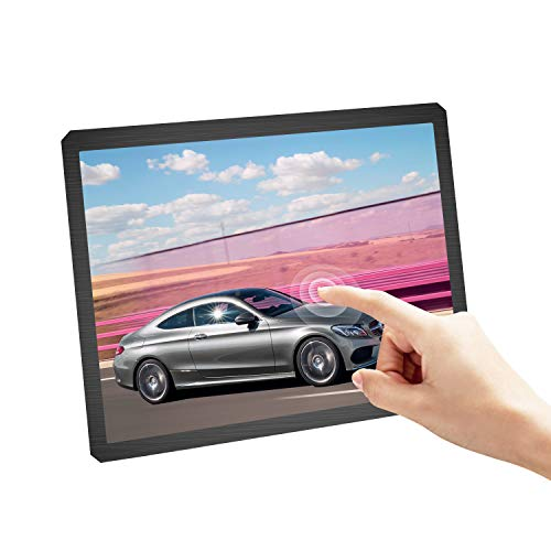 UPERFECT 12.3-inch Touch Display Portable Monitor Touchscreen 1600×1200 Resolution PC Display 4:3 60HZ Speakers VESA for Security Camera Computer Laptop Cellphone Mac Raspberry Pi PS4 Nintendo (Touch Monitor Screen Small)