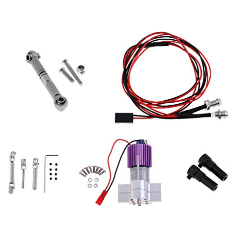 SM SunniMix 370 Motor Center Gearbox Heat Sink Assembly RC Car Rear Axle Adapter RC Car Drive Shaft Rear Tail Light Pulling Steering Rod (Tail Drive Shaft)
