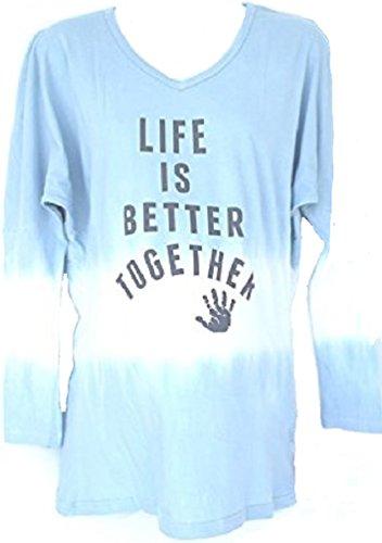 Silly Souls Damen Unterhemd Blau Blue and White
