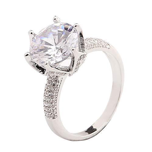 - bjlongyi Women Round Finger Ring,Sparkling Faux Gemstone Jewelry Wedding Rings for Ladies US 7