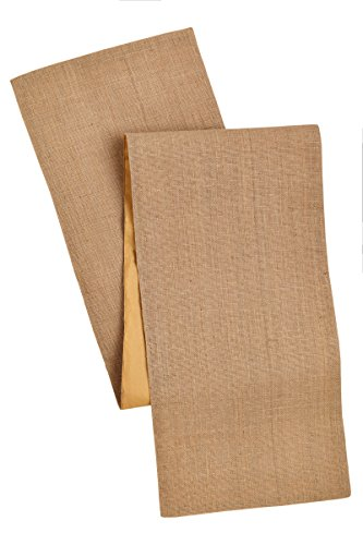 Cotton Craft - Solid Color Jute Table Runner 13x72 - Natural- Perfect Accessory to Dress Up Your Dinner Table - Made from 100% Jute - Spot Clean -