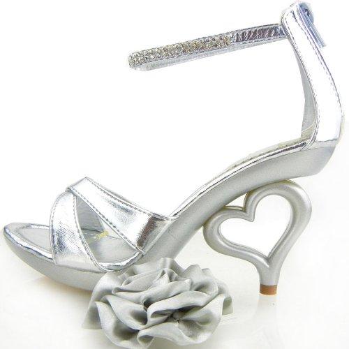 Argento SM33101 sandali removibile alla Mostra cinturino da caviglia sposa fiori scarpe 20 colori Story dei sposa 416wZ