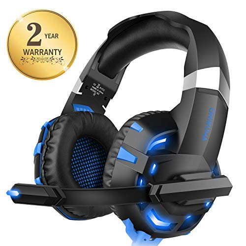 Xbox one Headset for PS4, WILLNORN K2 Gaming Headset with Mic Noise Cancelling Over Ear Headphones for PS4, PC Controller, Laptop, LED Light, Stereo Sound with Bass by WILLNORN