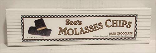 (See's Candies 8 oz. Dark Molasses Chips)