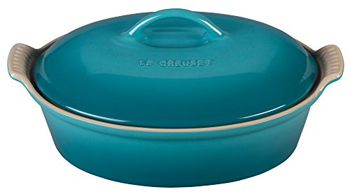 Le Creuset Stoneware Heritage Covered 2.25QT. Oval Casserole - Caribbean ()